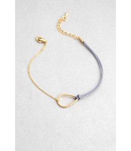 Lovoda Tear Rope Charm Bracelet - Gold