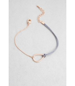 Lovoda Tear Rope Charm Bracelet - Rose Gold