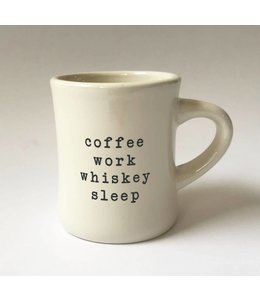 Stash Style Coffee Work Whiskey Sleep Mug