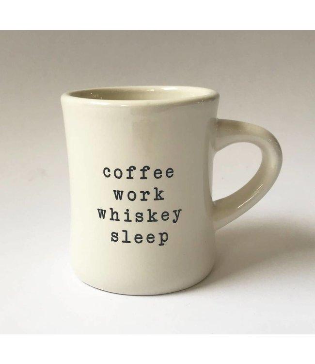Stash Style Coffee Work Whiskey Sleep Mug