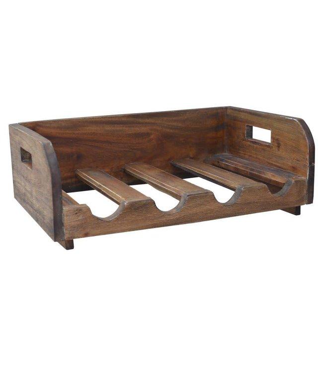 A & B Home Wood Wine Rack