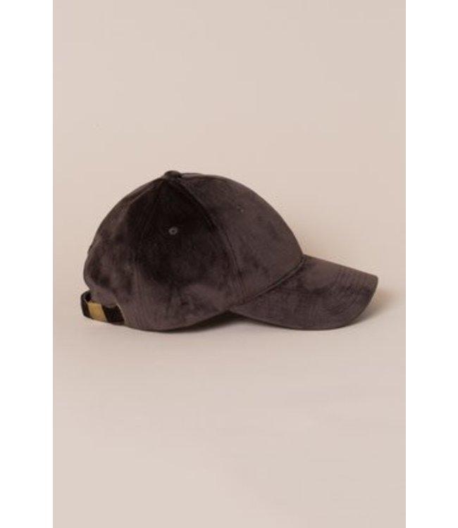 Lovoda Velvet Baseball Cap - Brown