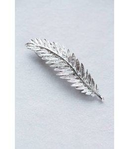 Lovoda Feather Barrette Silver
