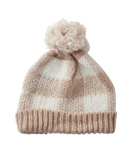 Pink Holly Plaid Beanie Hat