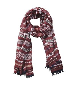 Ridge Stripe Dobby Scarf Red