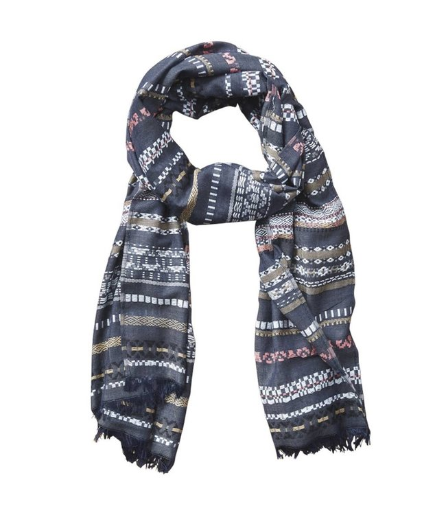 Ridge Stripe Dobby Scarf Gray