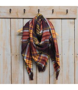Bountiful Blanket Plaid Brick