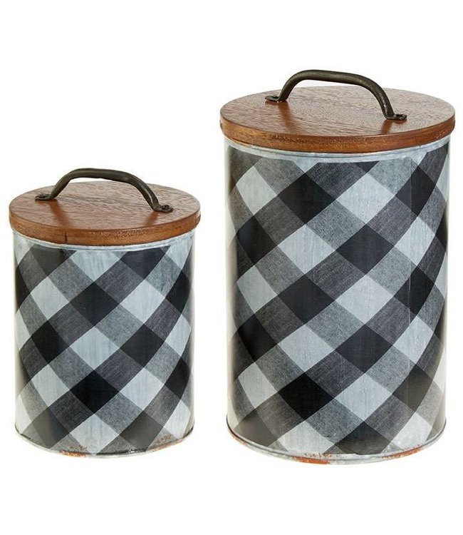 Plaid Canister