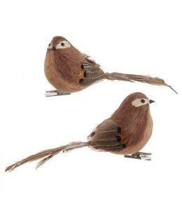 """7"""" Clip on Feathered Bird"""