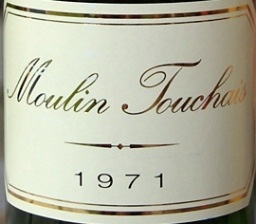 Wine MOULIN TOUCHAIS COTEAUX DU LAYON 1971