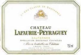 Wine Chateau Lafaurie Peyraguey Sauternes 1986