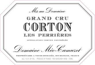 Wine MEO CAMUZET CORTON PERRIERES GRAND CRU 2012