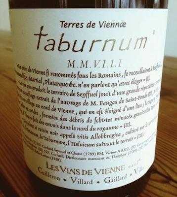 Wine LES VINS DE VIENNE 'TABURNUM' VIOGNIER 2008