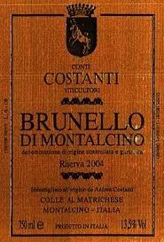 Wine Costanti Brunello di Montalcino DOCG 2010