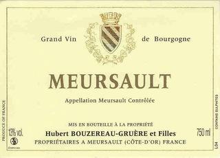 Wine Domaine Bouzereau-Gruere Meursault Blanc 2012
