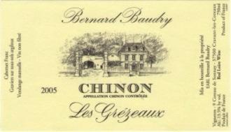Wine Domaine Bernard Baudry Chinon Grezeaux 2014