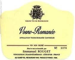 Wine Emmanuel Rouget Vosne Romanee 2013