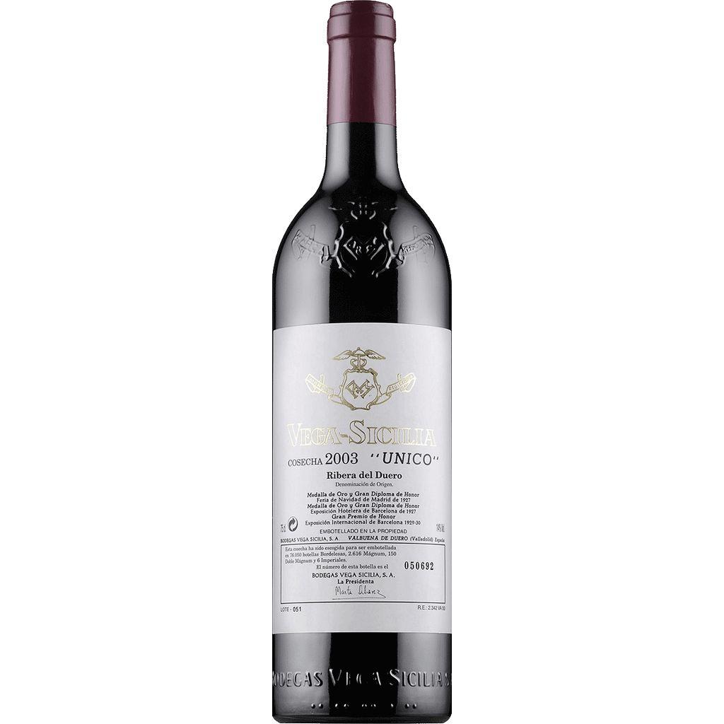 Wine Vega Sicilia Unico 2003