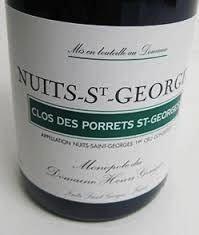 Wine Domaine Henri Gouges Nuits St Georges Rouge Premier Cru Clos des Porrets St Georges 2013