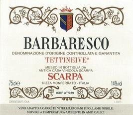 Wine Scarpa Barbaresco Tettineive 2001