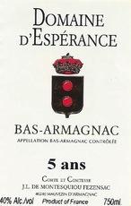 Spirits ESPERANCE BAS-ARMAGNAC 5 YR