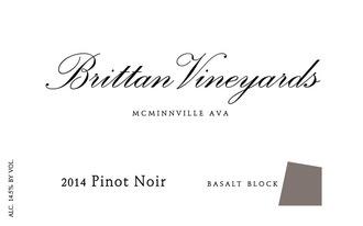 Wine Brittan Vineyards Willamette Valley Pinot Noir Basalt Block 2013