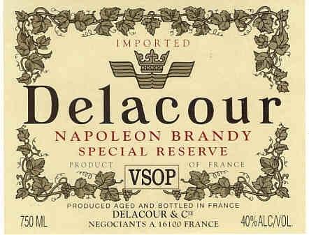 Spirits Delacour Brandy 1L