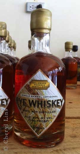 Spirits Delaware Phoenix Distillery Single Barrel Artisanal Rye Whiskey 375ml