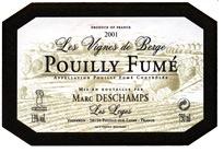 Wine Marc Deschamps Pouilly Fume 'Les Vignes de Berge'  2012