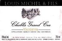 Wine Louis Michel Chablis Vaudersir Grand Cru 2014