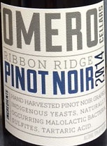 Wine Omero, Ribbon Ridge Pinot Noir 2014