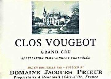 Wine Jacques Prieur Clos Vougeot Grand Cru 2008