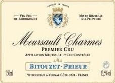 Wine Bitouzet-Prieur Meursault 1er Cru 'Les Charmes' 1.5L 2013