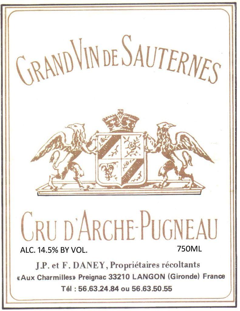 Wine Cru d'Arche-Pugneau Sauternes 2011