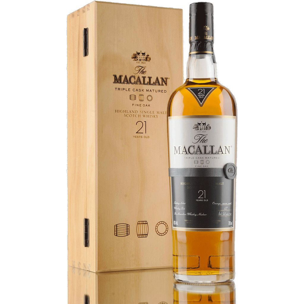 Spirits Macallan Fine Oak 21 Year Speyside Highland Single Malt Scotch