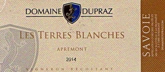 Wine Domaine Dupraz Les Terres Blanches Apremont 2015