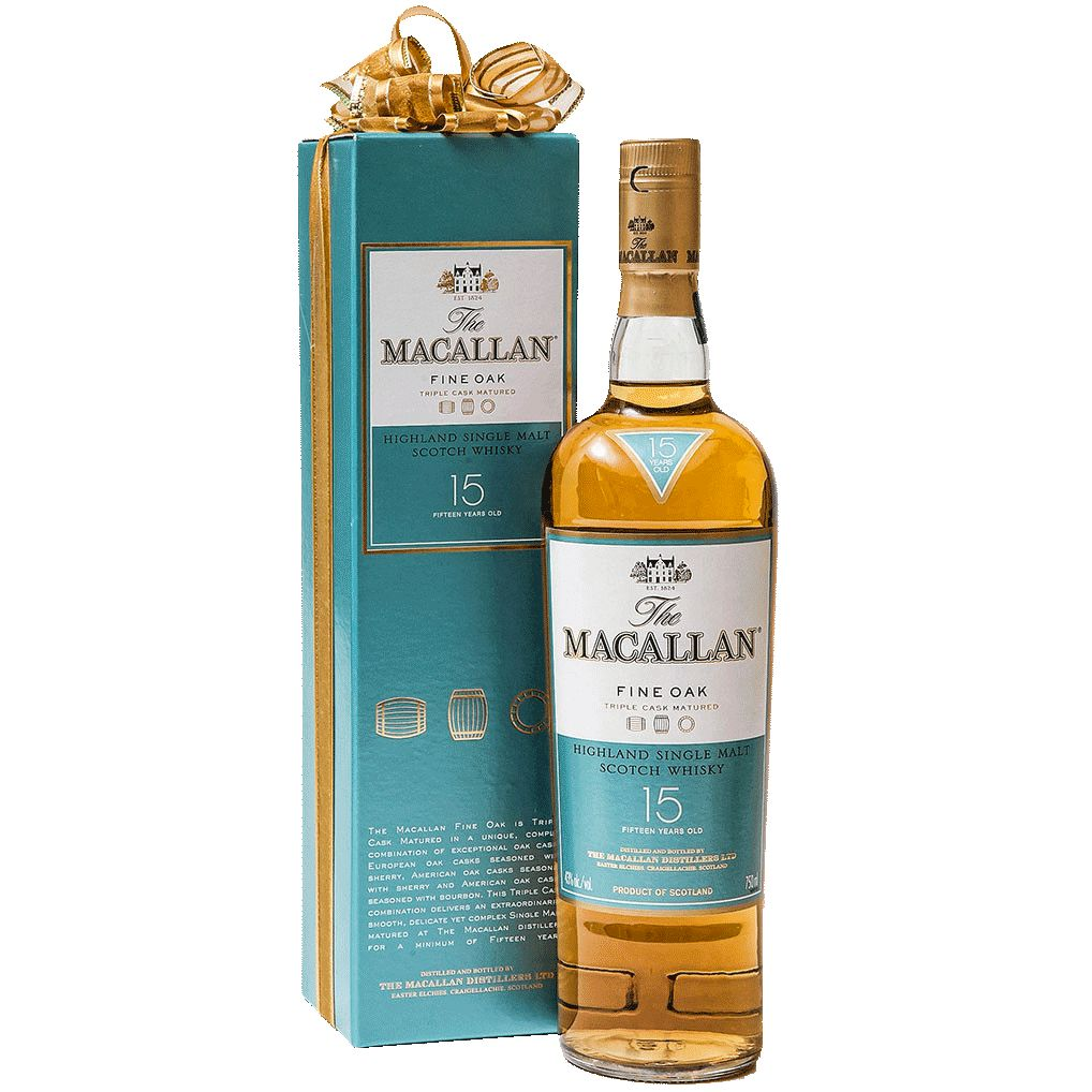 Spirits Macallan Fine Oak 15 Year Speyside Highland Single Malt Scotch