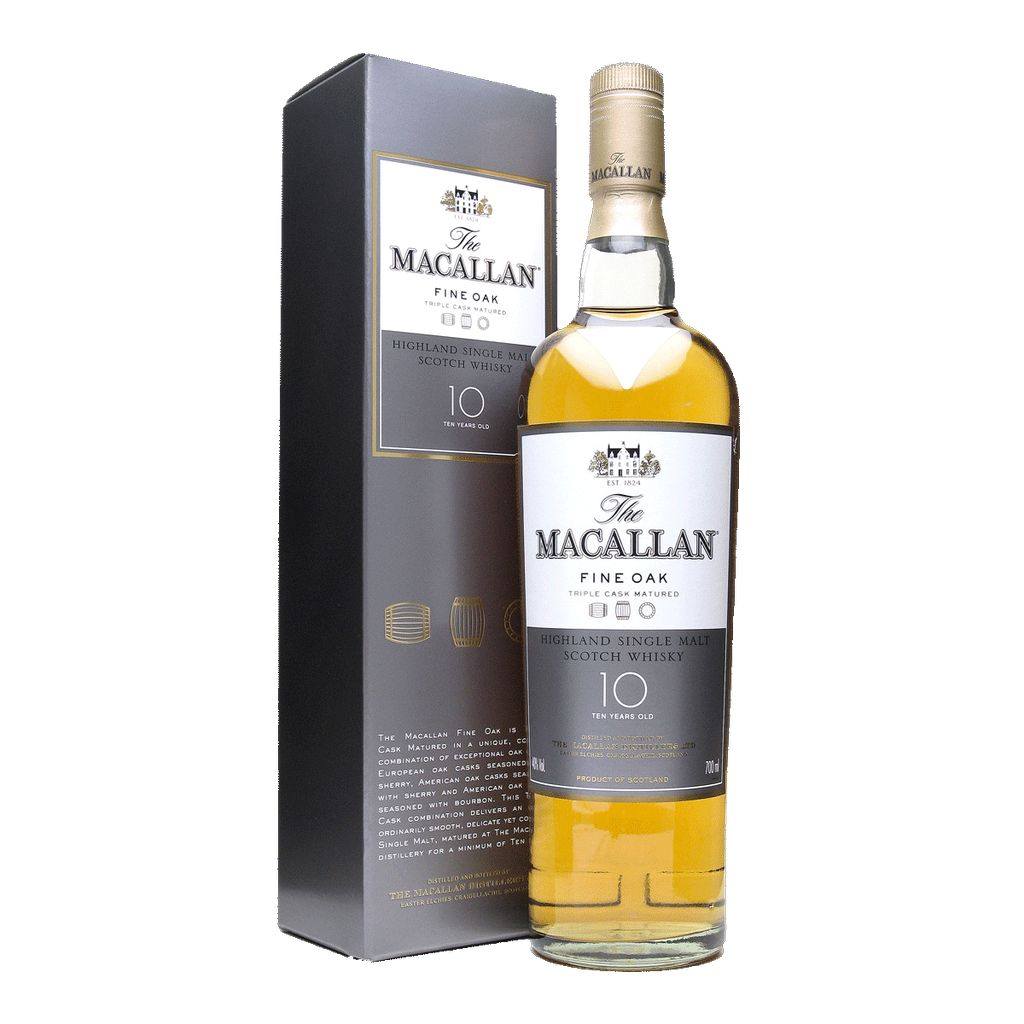 Spirits Macallan Fine Oak 10 Year Speyside Highland Single Malt Scotch
