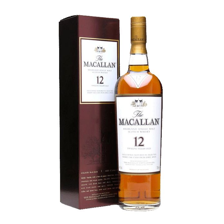 Spirits Macallan Sherry Oak 12 Year Speyside Highland Single Malt Scotch