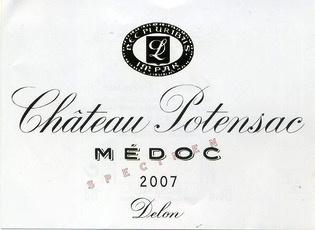 Wine Ch. Potensac 2007