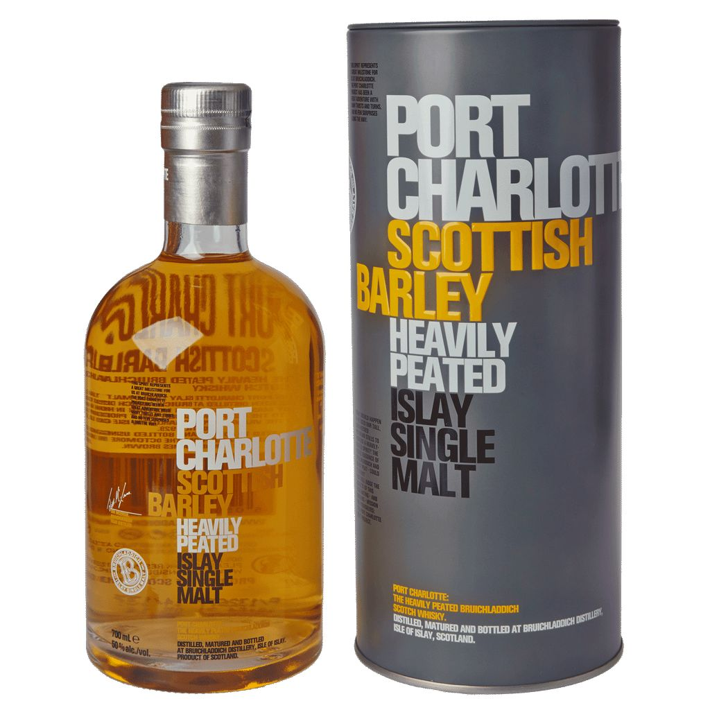 Spirits Bruichladdich Port Charlotte Scotch Single Malt Scottish Barley Heavily Peated