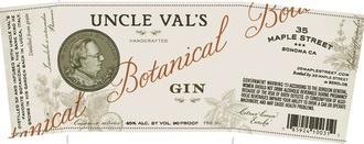 Spirits Uncle Val's Botanical Gin