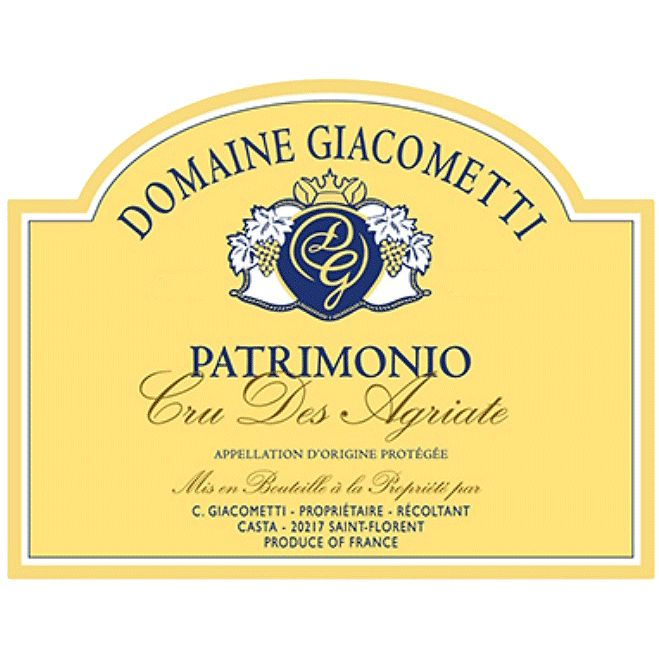 Wine Giacometti Patrimonio Rouge Cru des Agriate 2014