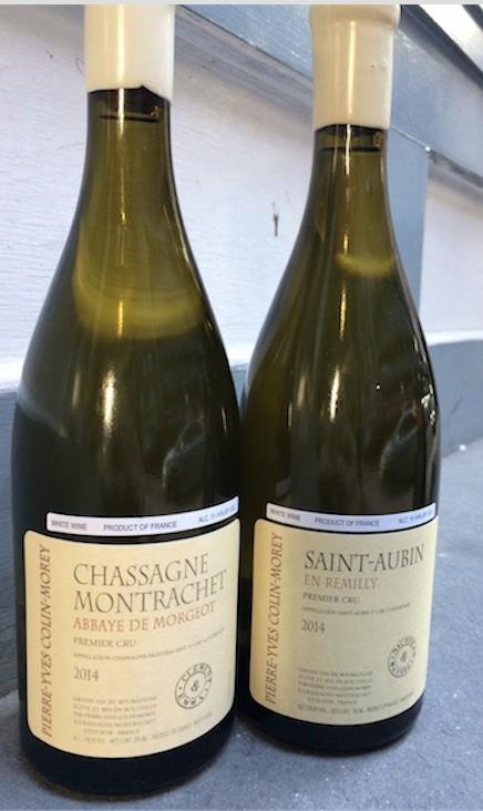 """Wine Pierre-Yves Colin-Morey Chassagne Montrachet Abbaye de Morgeot Premier Cru """"Clement & Emma"""" 2014"""