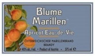 Spirits Blume Marillen Apricot Eau-De-Vie Brandy 375ml