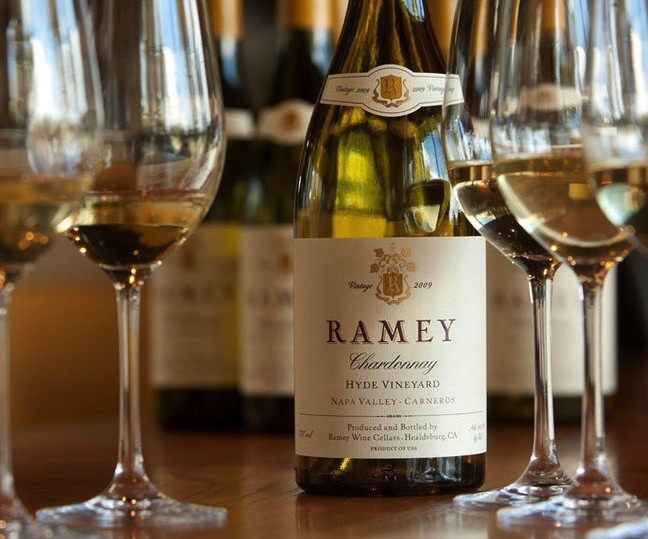 Wine Ramey Chardonnay Hyde Vineyard Napa Valley 2014