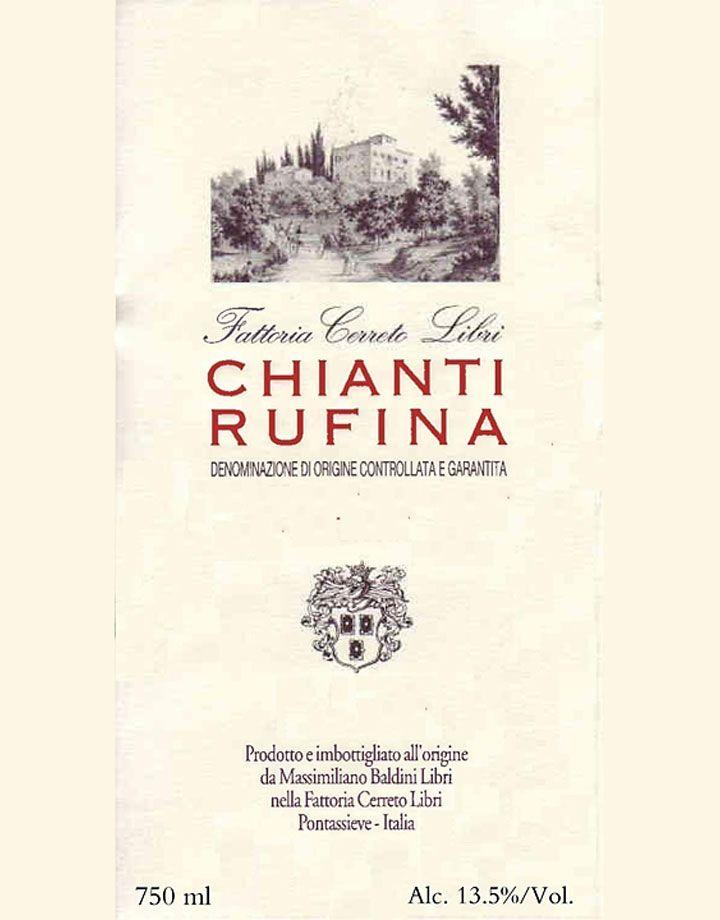 Wine Cerreto Libri Chianti Rufina 2010