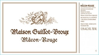 Wine Domaine Guillot Broux Macon Cruzille Rouge 2014