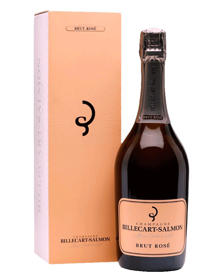 Sparkling Billecart-Salmon Champagne Brut Rosé Gift Box