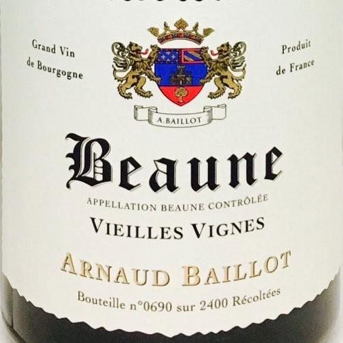 Wine Arnaud Baillot Beaune Vieilles Vignes 2015